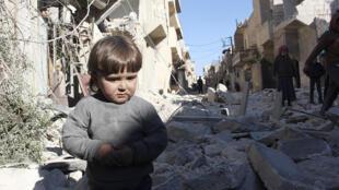 Wani gefe na birnin Aleppo a kasar Sirya