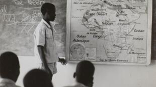 Cours de géographie à Man (Côte d'Ivoire).