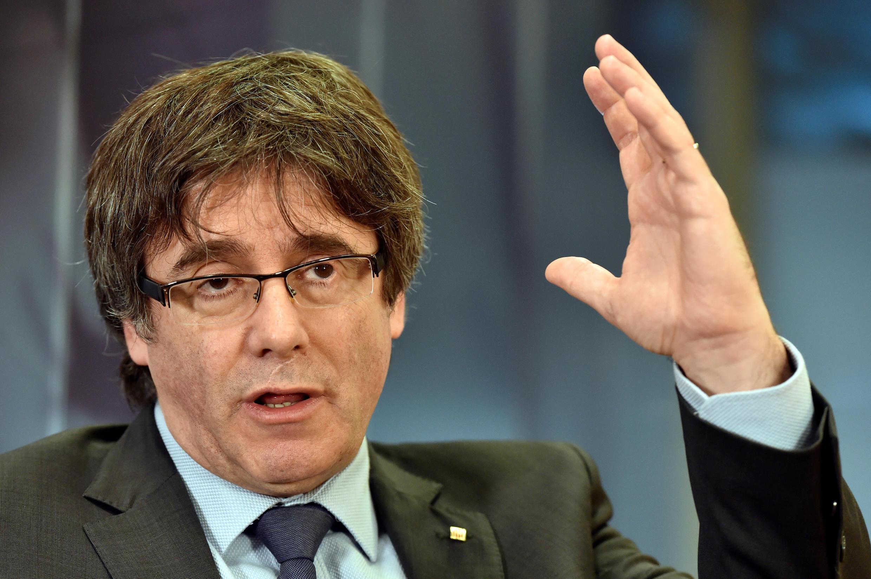 El presidente destituido Carles Puigdemont en Bruselas, el 23 de Diciembre de 2017.