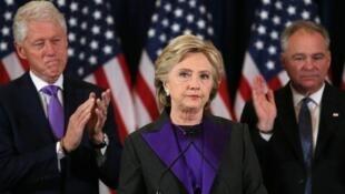 Hillary Clinton công nhận thất bại trước Doanld Trump, ngày 09/11/2016.