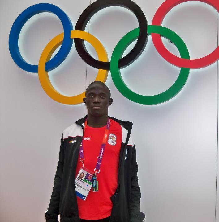 Atleta guineense de luta livre, Augusto Midana.