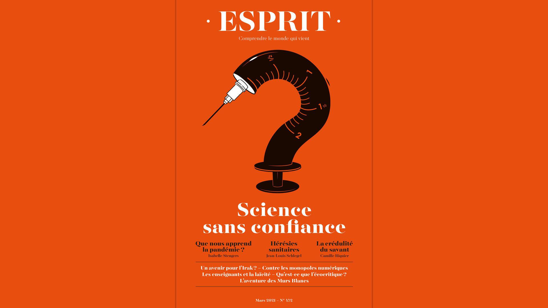 Couverture - Revue Esprit - Science sans confiance - mars 2021 - Une semaine d'actualité