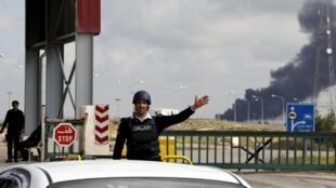 La frontière syro-jordanienne.