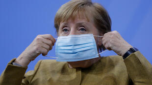 Getting tough: German Chancellor Angela Merkel has been telling federal leaders that they need to do more to slow the second wave of Covid infections.