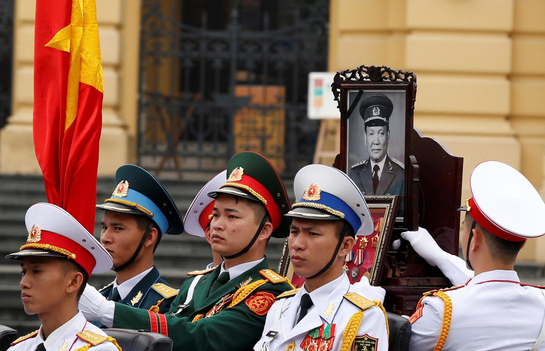 Tang lễ cựu chủ tịch Việt Nam, tướng Lê Đức Anh, được tổ chức tại Hà Nội, ngày 03/05/2019