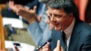 Matteo Renzi au Parlement, à Rome, le 20 août 2019.
