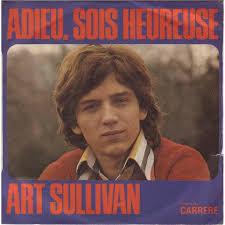 """Ảnh bìa một album của Art Sullivan với bài """" Adieu sois heureuse""""."""