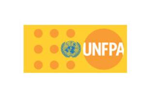 Le logo du Fonds des Nations unies pour la population (UNFPA).