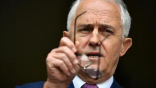 Le Premier ministre australien Malcolm Turnbull en conférence de presse au Parlement australien à Canberra, le 5 décembre 2017.