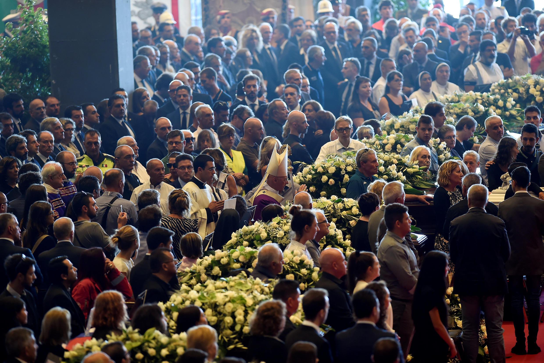 Траурная церемония в Генуе, 18 августа 2018 г.