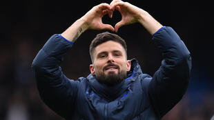 France international scored Chelsea's opening goal in their 3-2 win at Crystal PalaceL'attaquant français de Chelsea Olivier Giroud sur le terrain de Crystal Palace, le 7 février 2020 à Londres