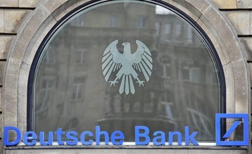 Logo của ngân hàng Deutsche Bank tại Francfort