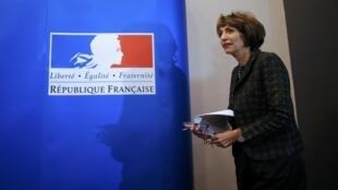 圖為法國衛生部長馬里索爾圖海納Marisol Touraine