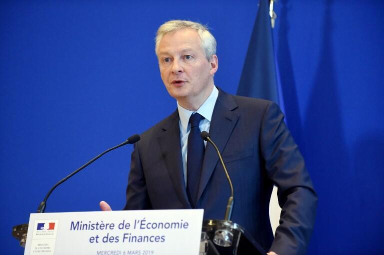 Ministro da Economia francês, Bruno Le Maire.