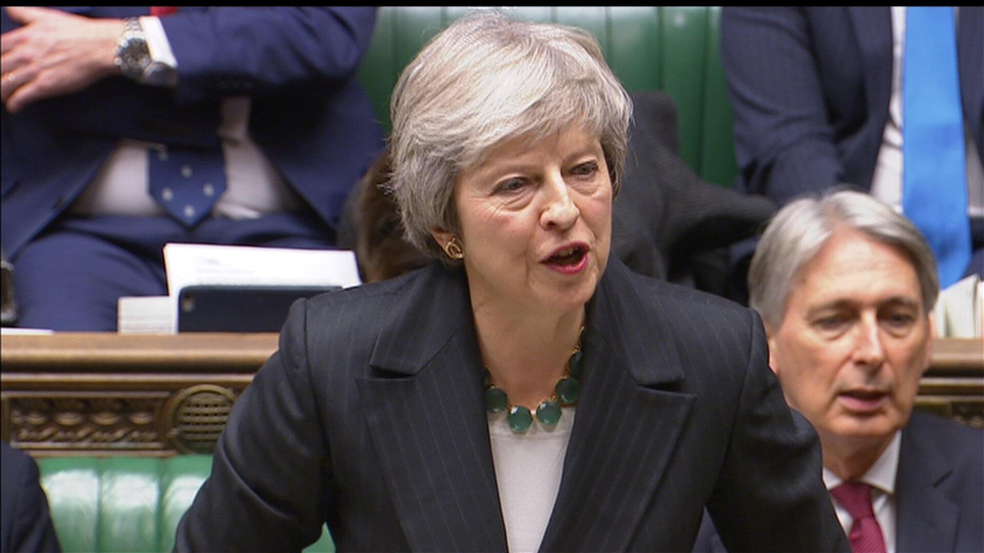 Thủ tướng Anh Theresa May trình bày về Brexit tại Quốc Hội ngày 15/11/2018.