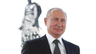Presidente russo Vladimir Putin durante uma intervenção na televisão russa, em 30 de junho de 2020.