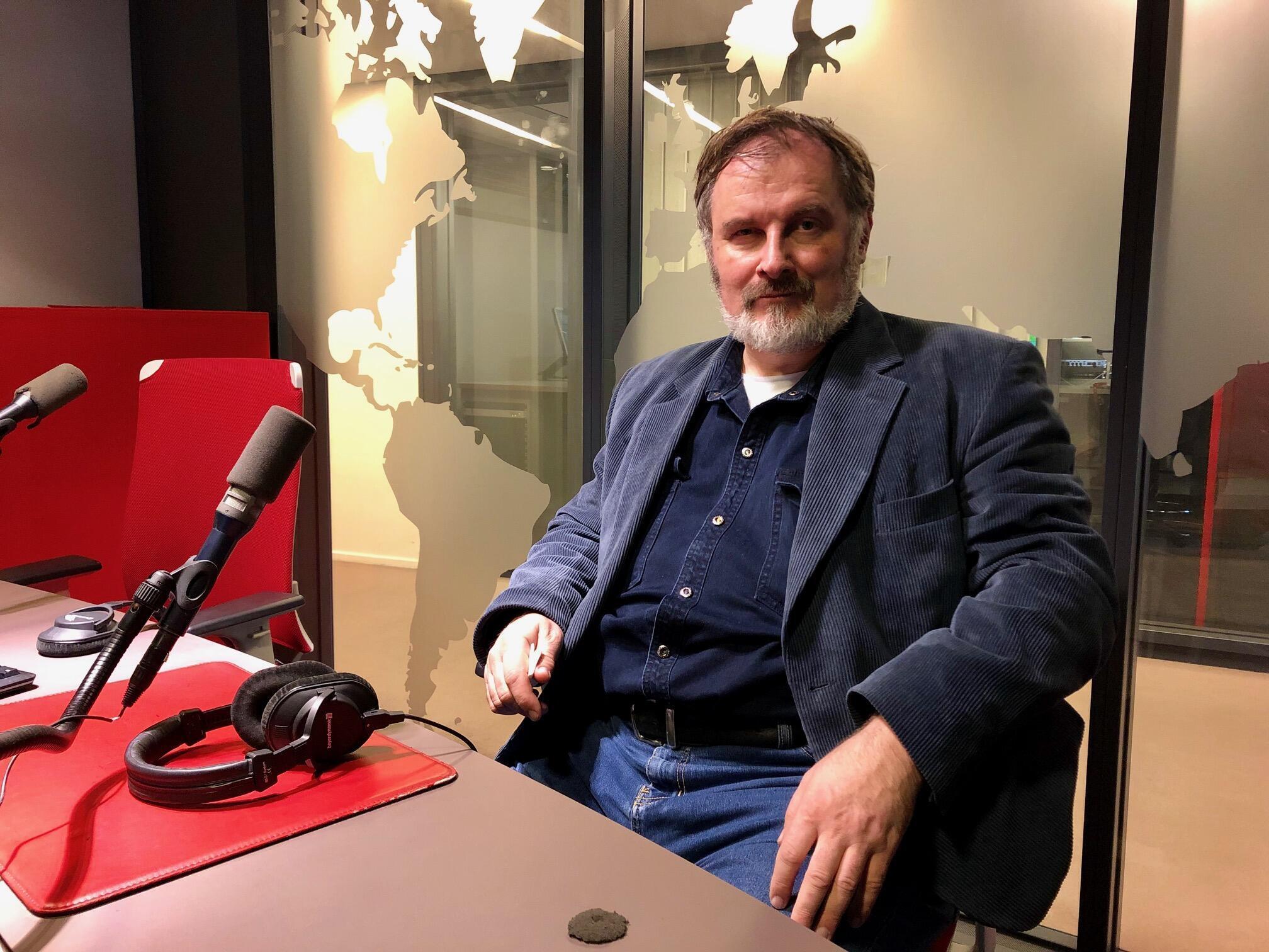 Александр Черкасов в студии RFI, 12 декабря 2018 года