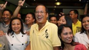Ông Begnino Aquino và những người ủng hộ
