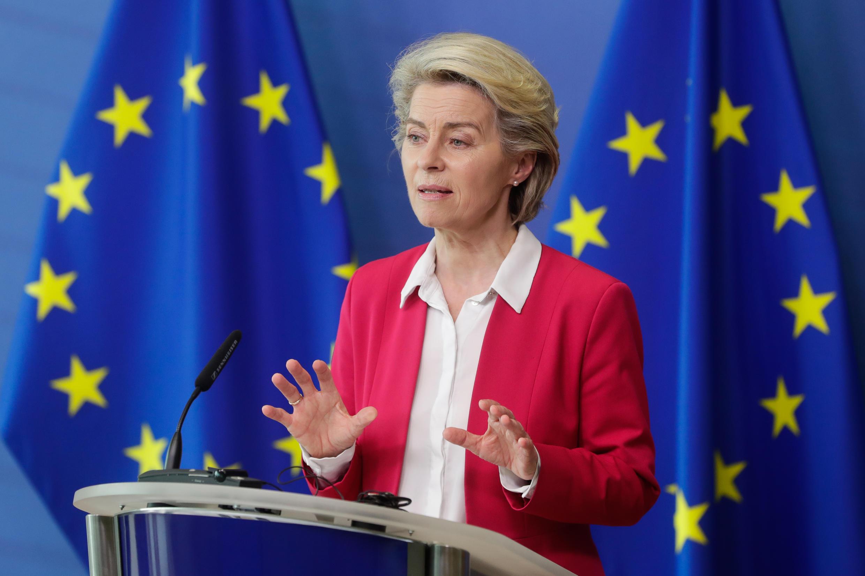 La présidente de la commission européenne, Ursula Von Der Leyen, à Bruxelles le 15 juin