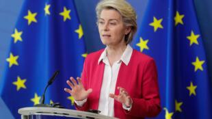 Ursula Von Der Leyen, le 15 juin 2021.
