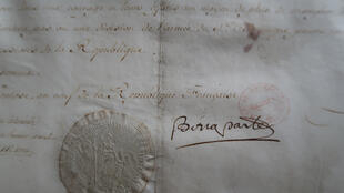 Signature_document Napoléon - Archives