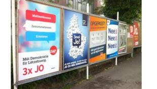 La campagne sur le droit de vote des étrangers au Luxembourg. Partisans du Oui et du non développent leurs arguments.