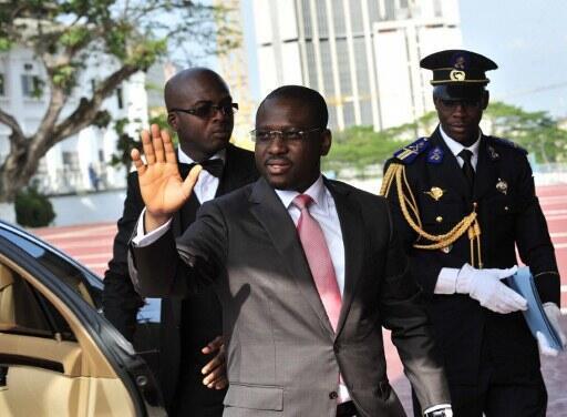 Guillaume Soro ex-primeiro-ministro  da Costa do Marfim a  8  de  Março de  2012