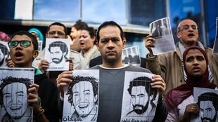 Egyptian journalists demand the liberation of jailed colleagues  last year