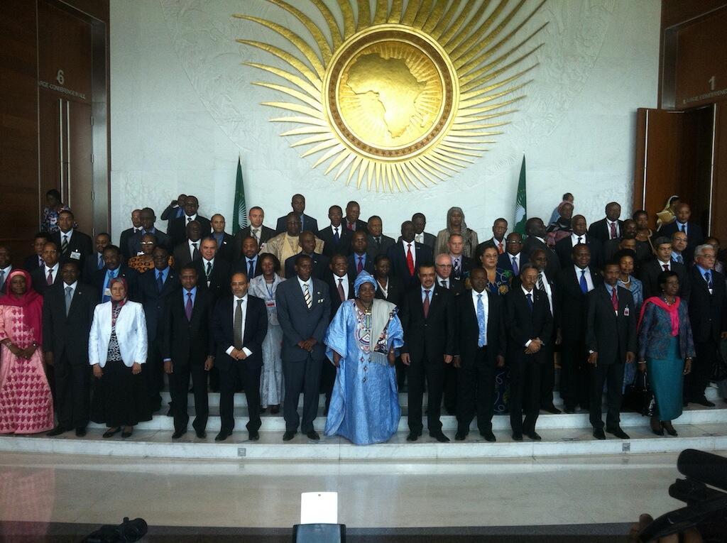 Shugabannin kasashen Afrika a wani taor da suka yi a Addis Ababa