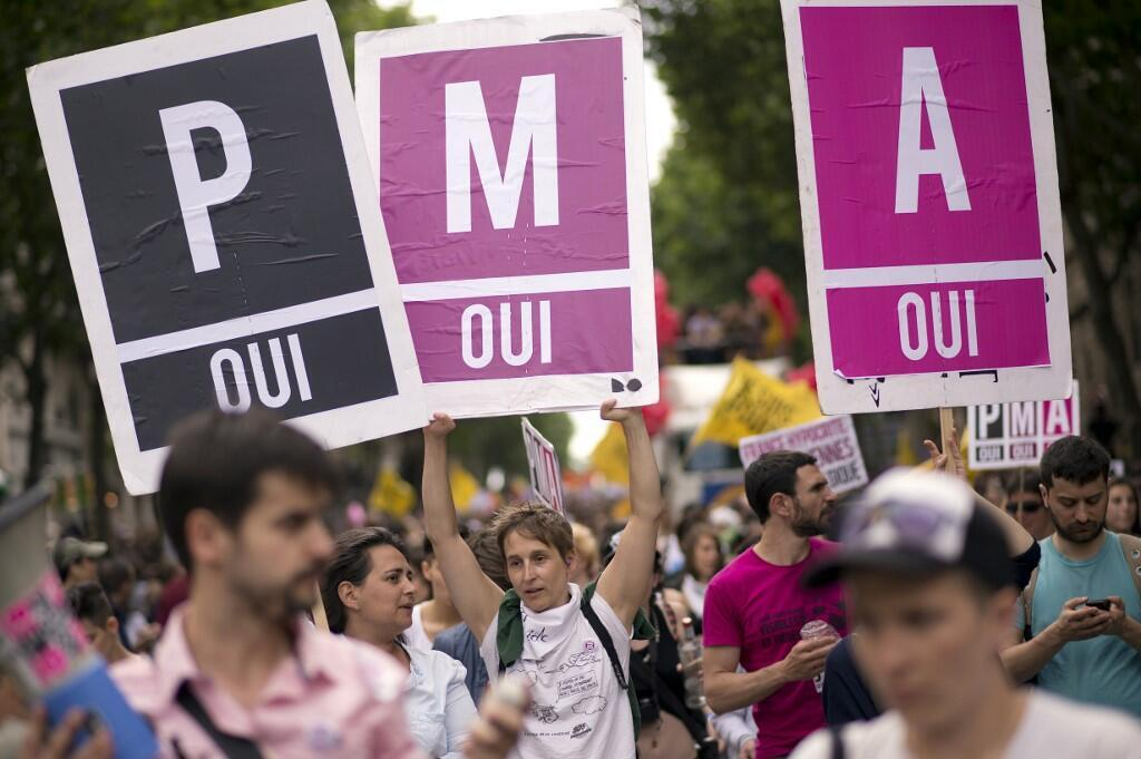 Manifestantes a favor de la PMA. Foto de archivo del 29 de junio de 2013.