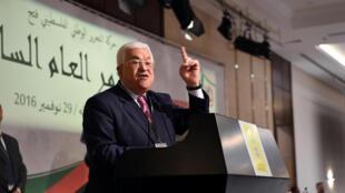 Mahmoud Abbas lors du congrès du Fatah le 29 novembre 2016.