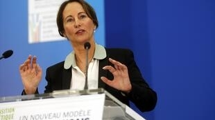 Energy and Environment Minister Ségolène Royal presents the energy transition law in Paris