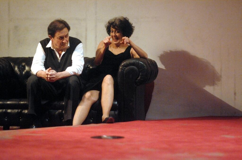 Wladimir Yordanoff et Dominique Valadié dans la pièce «Qui a peur de Virginia Woolf?», dans une mise en scène d'Alain Françon.