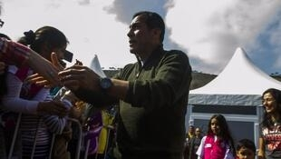 La pareja presidencial peruana visitó la Feria Mistura 2014.
