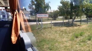 Arrivée dans la commune de Foussignac, en Charente.