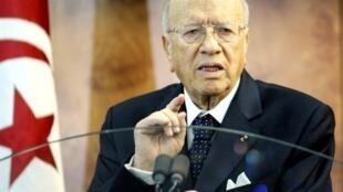 Interim Tunisian Prime Minister Béji Caïd Essebsi