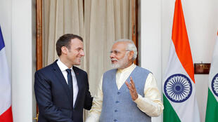French President Emmanuel Macron and Indian PM Narendra Modi meet in New Delhi on Saturday
