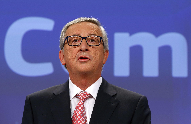 Jean-Claude Juncker, lors de la présentation de la liste des 27 commissaires européens choisis, le 10 septembre 2014.