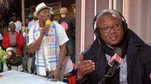 Domingos Simoes Pereira (gauche) et Umaro Sissoco Embalo (droite) sont les deux finalistes de la présidentielle en Guinée-Bissau.