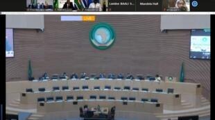 Le sommet annuel de l'Union africaine s'est tenu en visioconférence en raison de la pandémie de Covid-19.