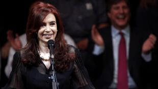 Argentina: Cristina Fernández de Kirchner en el cierre de la campaña el miércoles 19 de octubre de 2011.