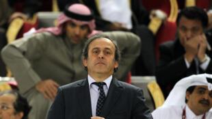 Michel Platini em 2011, no Catar.