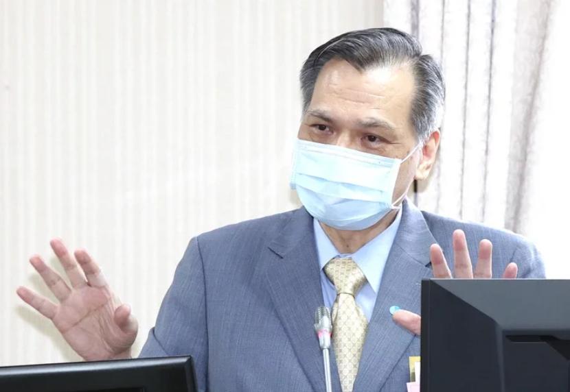 台湾国安局长陈明通资料图片