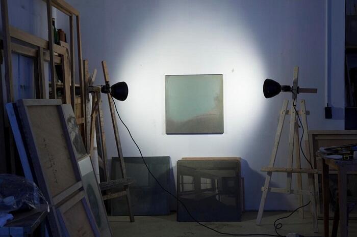 Aspecto del taller del artista.