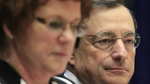ECB President Mario Draghi addresses the European Parliament economic and monetary affairs committee, 19 December, 2011