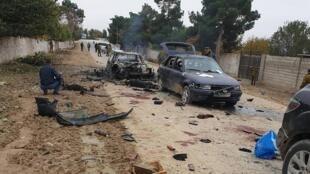 Une photo du lieu de l'attaque fournie par le ministère des Affaires internes de la République du Tadjikistan.