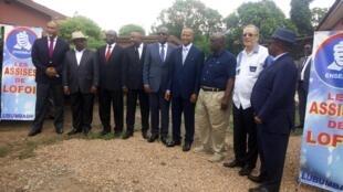 Moïse Katumbi aux côtés des présidents des partis politiques qui ont rejoint son mouvement «Ensemble pour la République».