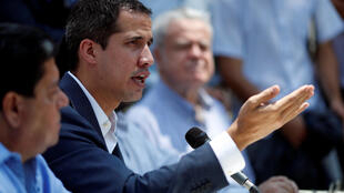 Juan Guaido a tenu une conférence de presse ce dimanche 10 mars.