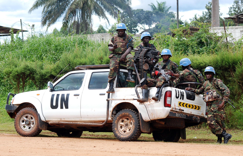 Une patrouille de Casques bleus de la Monusco, à Béni, le 23 octobre 2014.