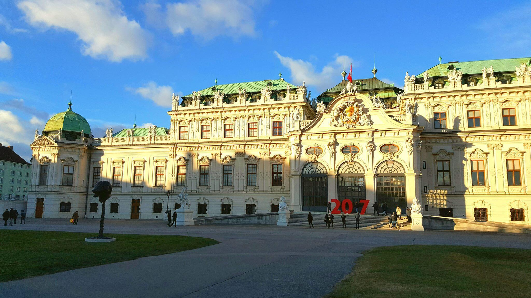 Cung điện Belvedere tại Vienne, nơi trưng bày bộ tranh Klimt